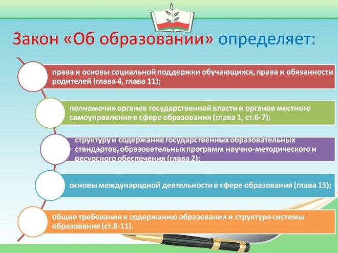 Закон об образовании.