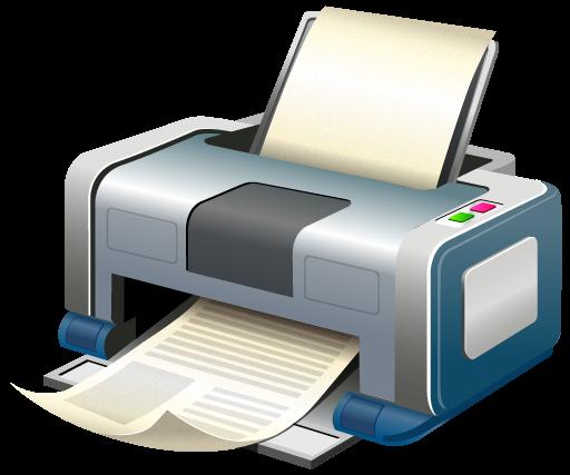 Принтер в работе.