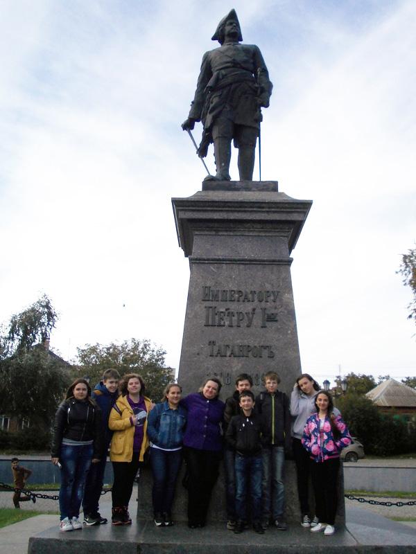 Памятник Петру Первому работы Антокольского в Таганроге.